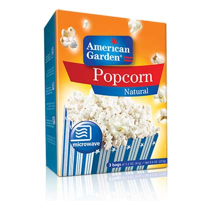 American Garden Microwave Popcorn Natural 275g