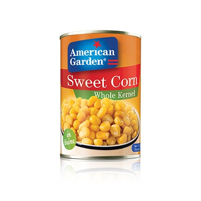 American Garden  SWEET CORN WHOLE KERNEL – IN BRINE 340g