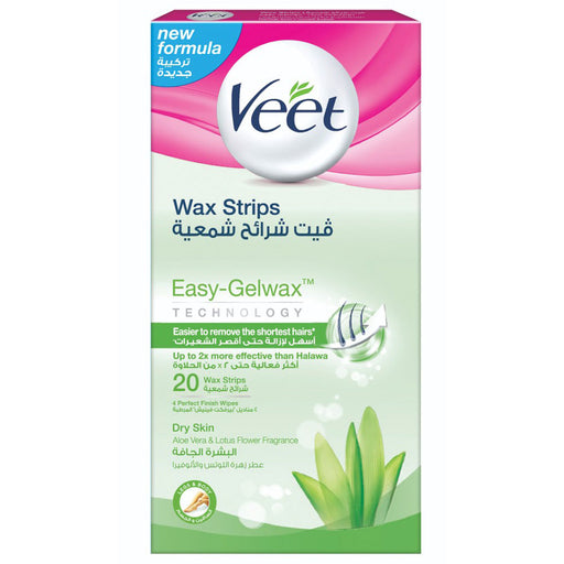 Veet Hair Removal Wax Strips for Dry Skin x20