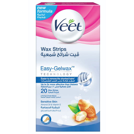 Veet Hair Removal Wax Strips for Sensitive Skin x20