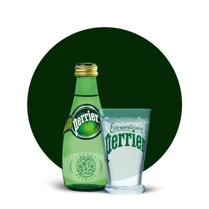 Perrier Sparkling Natural Mineral Water  6 x 200ml - Talabac