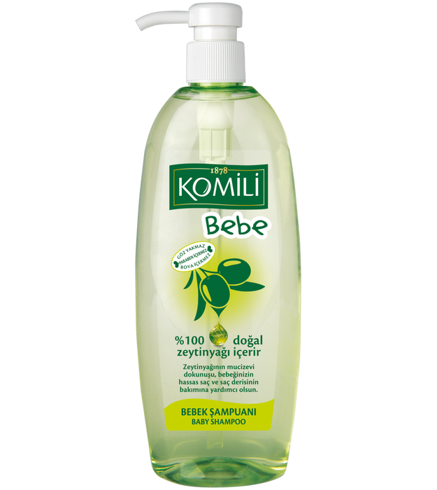 Komili Baby hair Shampoo with Olive oil 750ml (Made in Turkey). - Talabac