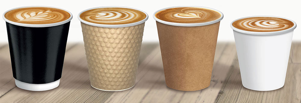 RZ Coffee Cups, Brown 266 ml 50 per pack - Talabac