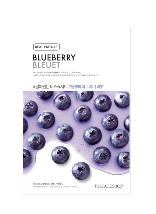 THE FACE SHOP Real Nature Face Mask Blueberry - 1 MASK
