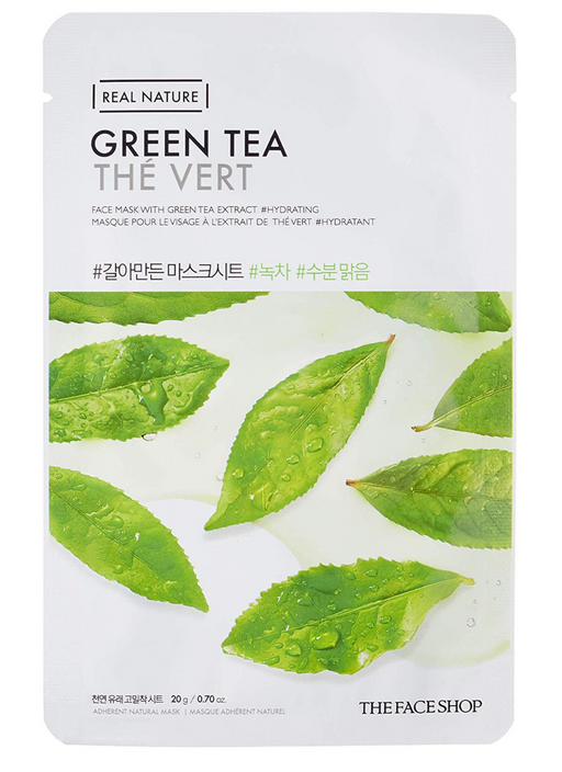 THE FACE SHOP Real Nature Face Mask Green Tea - 1 MASK - 1 MASK