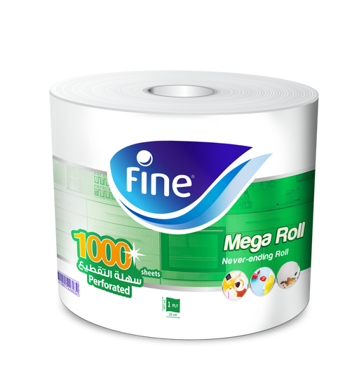 Fine Mega Roll Hand Towel, 1000 Sheets