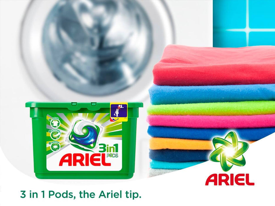 Ariel 3in1 Pods Washing Capsules Colour & Style 55 per pack - Talabac
