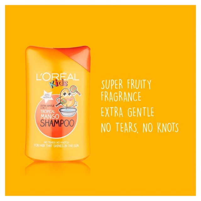 Loréal Kids Extra Gentle 2-in-1 Tropical Mango Shampoo 250ml