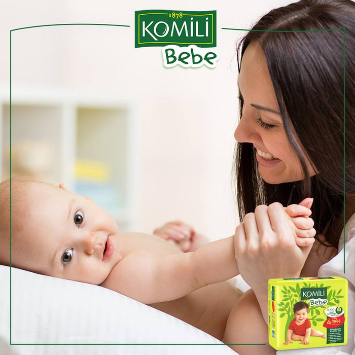 KOMILI - Size 2 Large 3-6 KG 72 nappies (Made in Turkey)