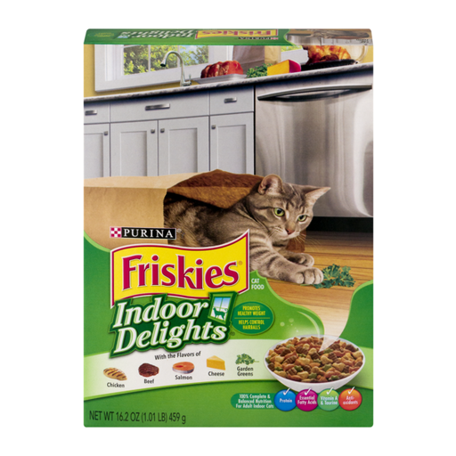 Purina Friskies Indoor Delights Cat Dry Food, 459g