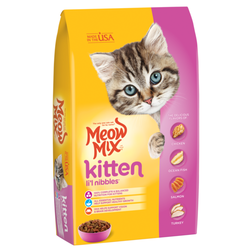 Meow Mix Kitten Li'l Nibbles Dry Cat Food, 1.36 kg