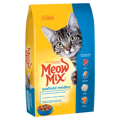 Meow Mix Seafood Medley Dry Cat Food, 1.36 kg