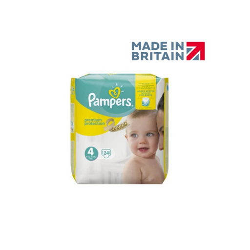 Pampers Premium Protection Size 4  8-16 kg Pack 24 (Made in Britain) - Talabac