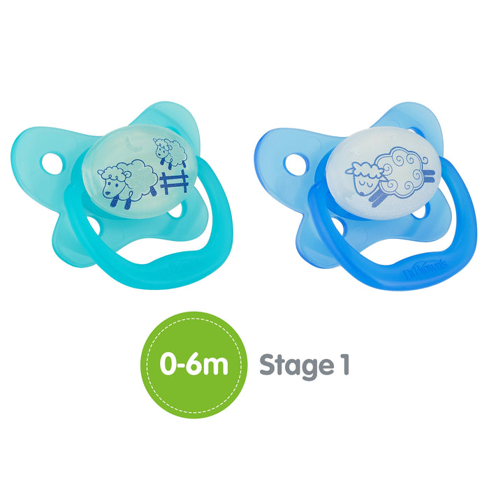 Dr. Browns Pacifier® Contoured Glow-in-the-Dark 0-6 m - Talabac