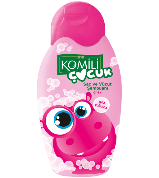 Komili Baby hair and Body Shampoo Strawberry 350ml (Made in Turkey).