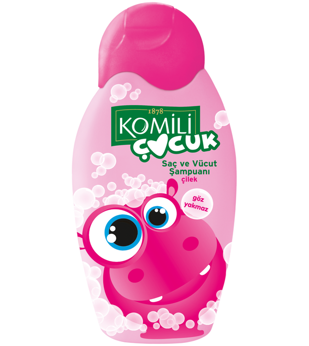 Komili Baby hair and Body Shampoo Strawberry 350ml (Made in Turkey). - Talabac