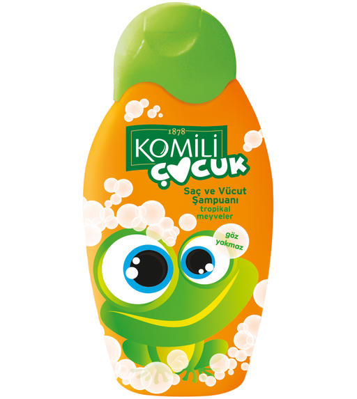 Komili Baby hair and Body Shampoo Tropical Fruits 300ml (Made in Turkey).