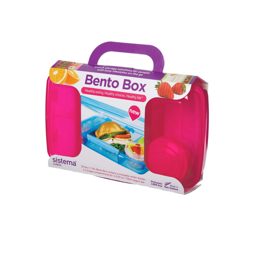 Sistema Lunch Collection Bento Box for Food Storage 1.76 liter, Pink - Talabac
