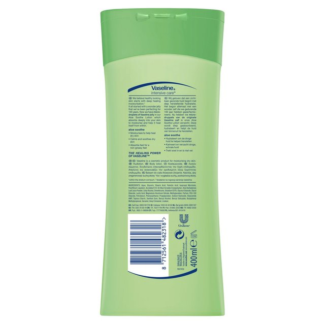 Vaseline Intensive Care Aloe Soothe Body Lotion 400ml (Made in Britain). - Talabac