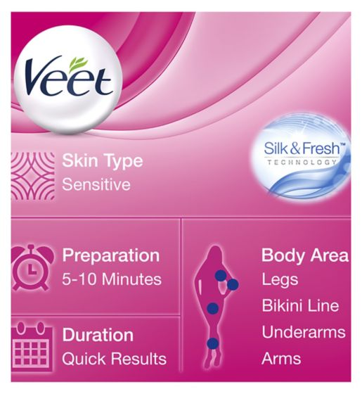 Veet Hair Removal Cream with Aloe Vera & Vitamin E for Sensitive Skin 100ml - Talabac