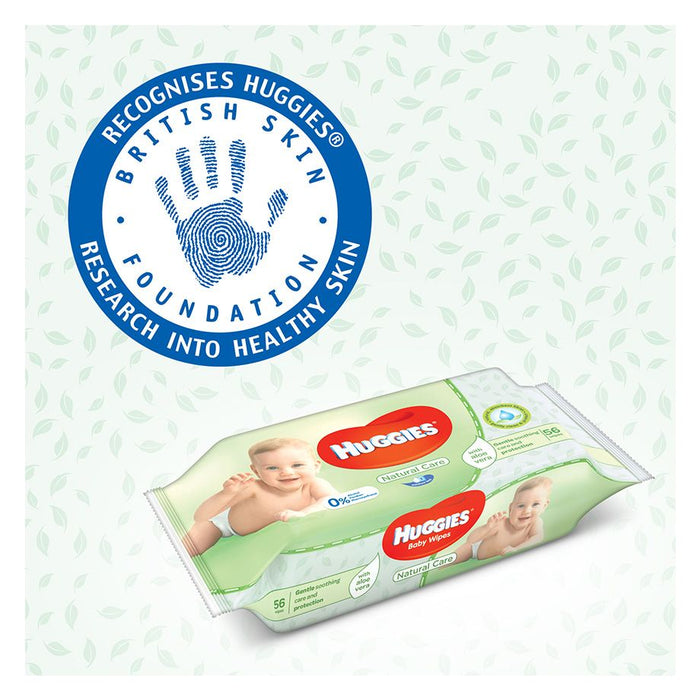 Huggies Natural Care Baby Wipes 4 x 56 per pack (made in the Britain) - Talabac