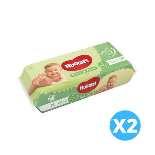 Huggies Natural Care Baby Wipes 2 x 56 per pack (made in the Britain)