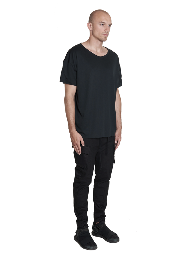 urrotz oversized technical tee black