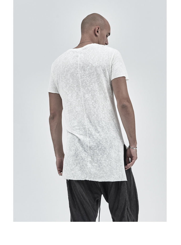 lerro side slit tee snow