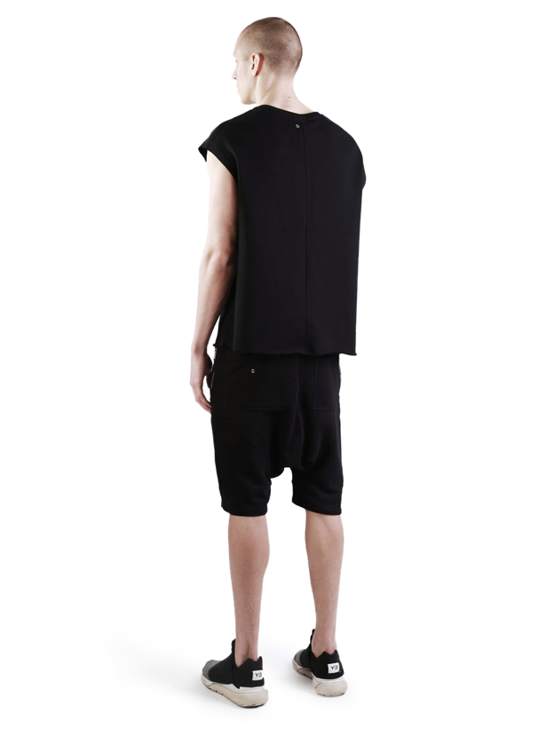 larrea panelled shorts black