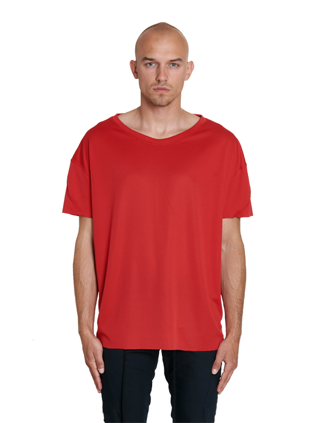 urrotz oversized technical tee red