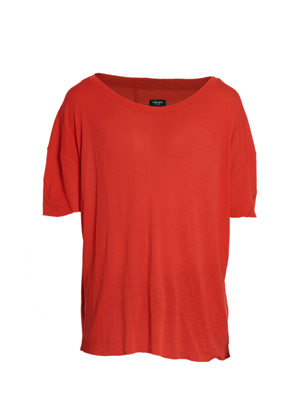 urrotz oversized merino tee red