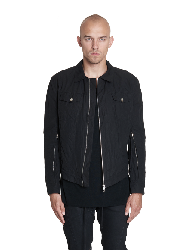 irotz zipped technical jacket black