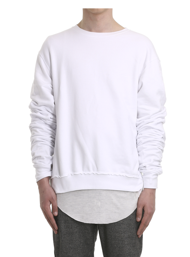 ereno oversized crewneck white