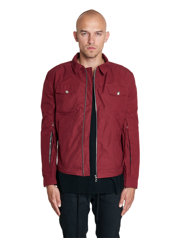 irotz zipped technical jacket blood red