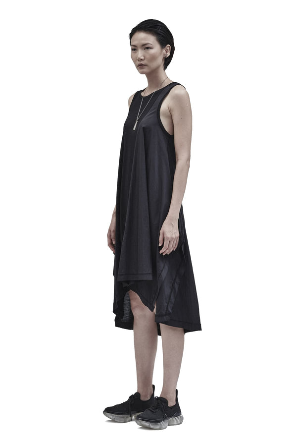 iraun asymmetrical dress black