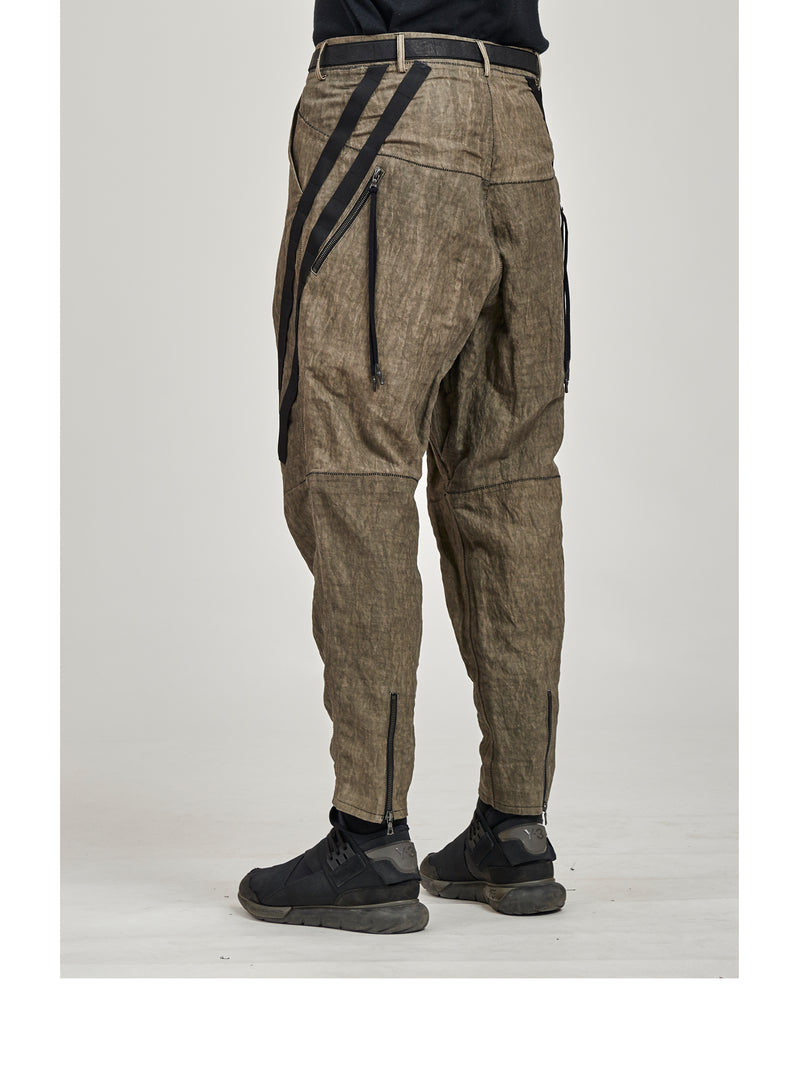 alai pants black cotton metal blend