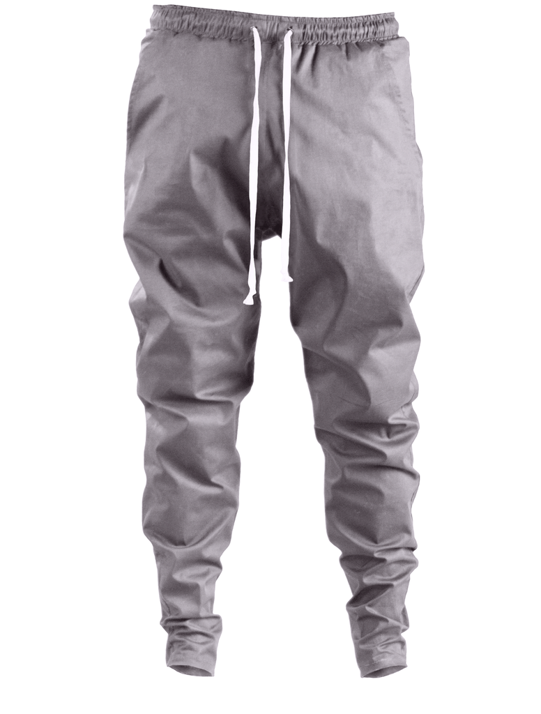 ergoi cotton poplin sweatpants gray