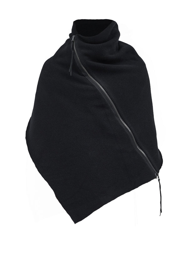 alza textured cotton poncho black