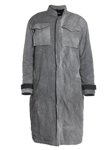 astiz cold dye oversized trench coat