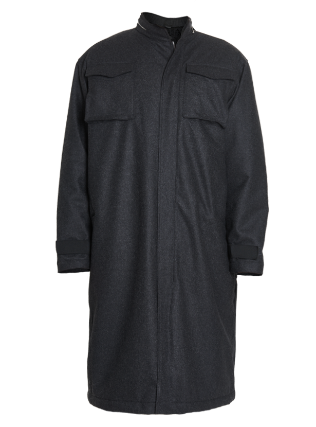astiz waterproof wool oversized trench coat