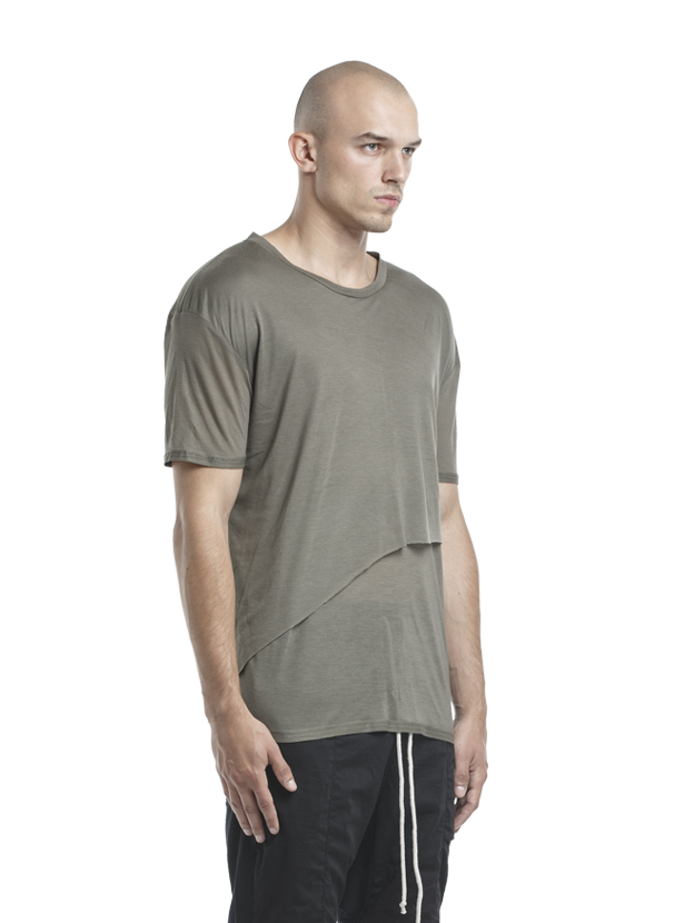 biarritz layered t-shirt olive