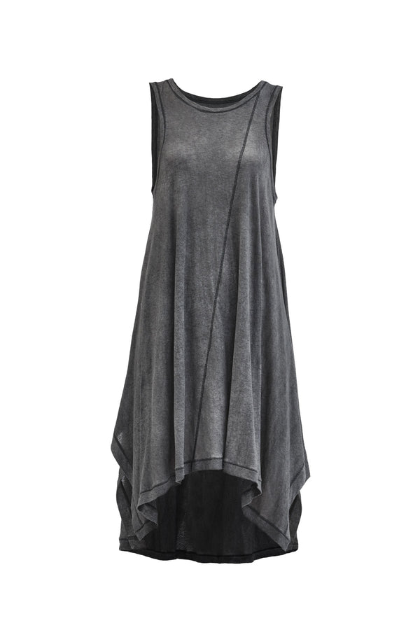 iraun asymmetrical dress grey