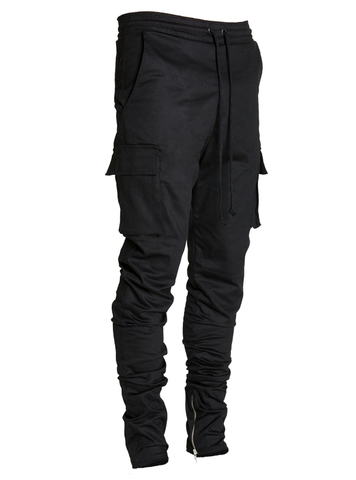 lantz twill cargo pants black