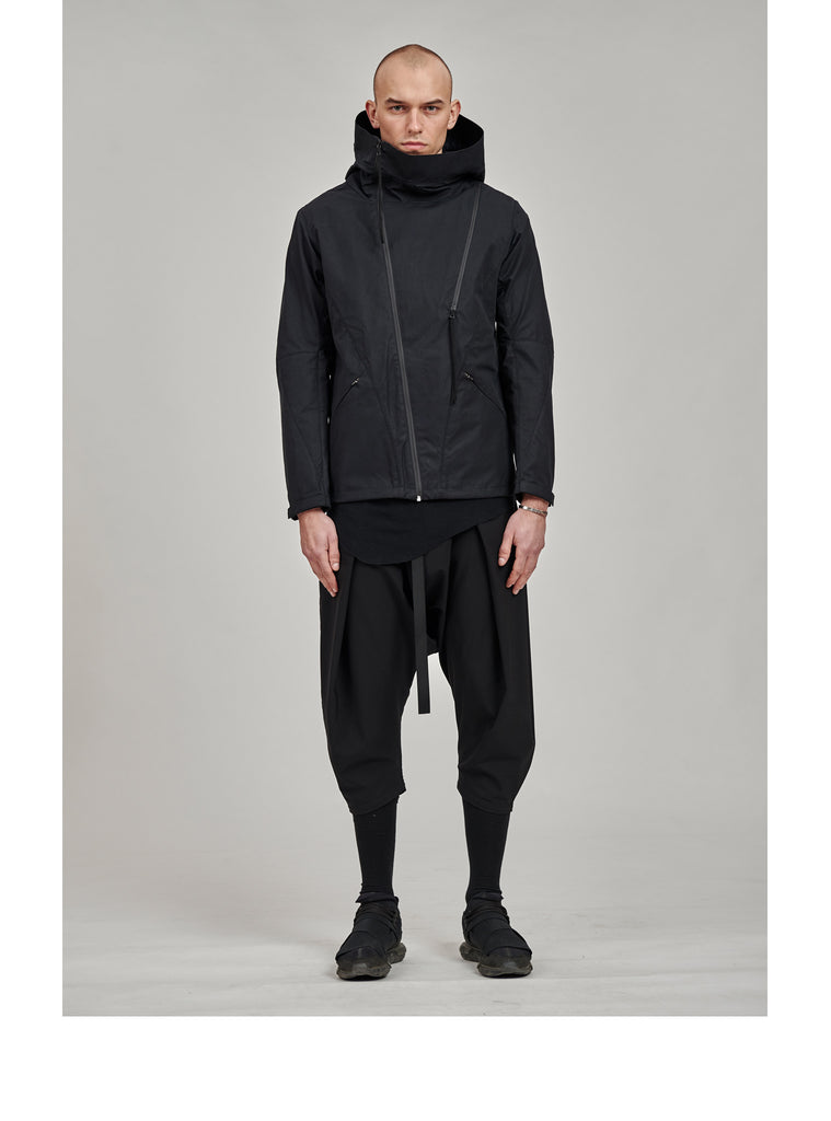 leioa asymmetrical jacket black