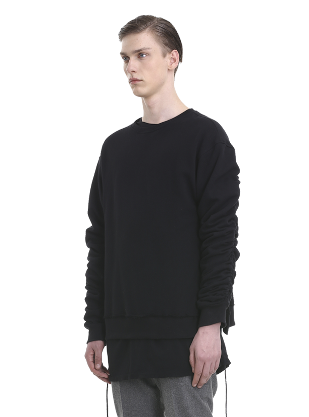ereno oversized crewneck black