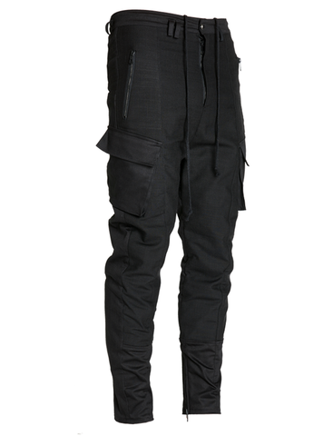 lirain silk panelled cargo pants