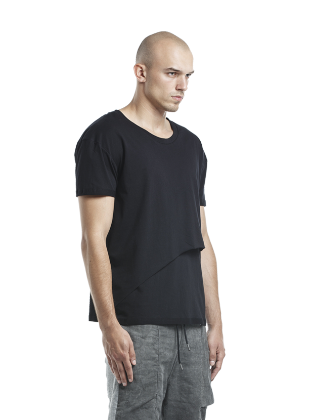 biarritz layered t-shirt black