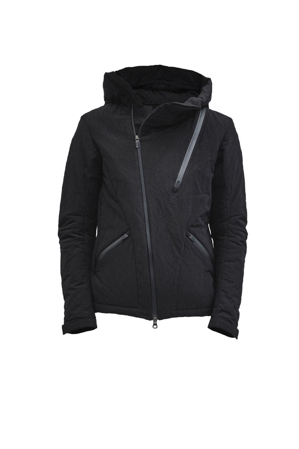 leioa asymmetrical insulated jacket nylon metal
