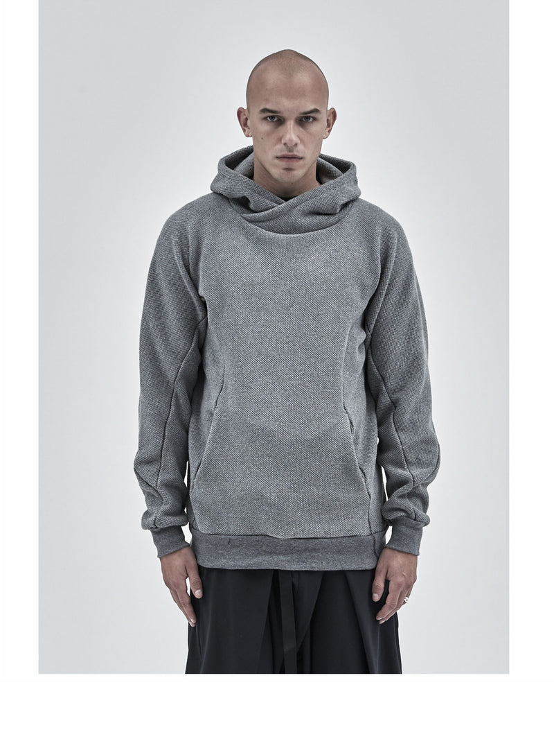 ehitu textured cotton hoodie grey