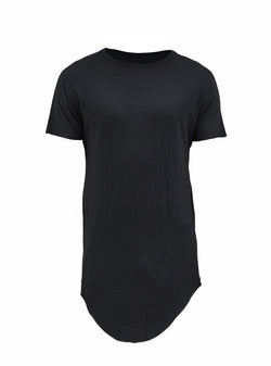 zain asymmetrical round bottom tee schoeller silk/wool/vi blend